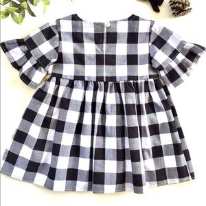 Other - Plaid Baby Ruffle Sleeve Dress